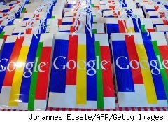 Shopping bags with the Google logo