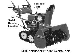 Recalled Honda snowblower