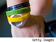 show support wristbands, armbands and bracelets became a popular fad
