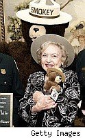 Betty White with Smokey  Bear