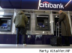 Customers outside a Citibank