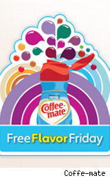 Coffee-mate free Friday logo