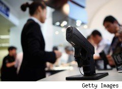 Glock pistol on display at industry trade show
