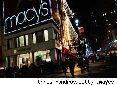 Macy's store at night