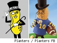 Planter's mascot Mr. Peanut has a new look on his Facebook page.  Thumnail links to facebook.