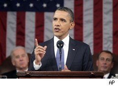 President Obama making State of the Union Address