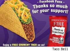 Free Taco Bell taco coupon