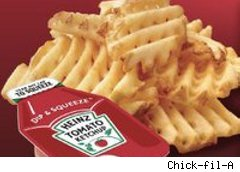 Waffle fries from Chick-fil-A