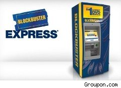 Blockbuster DVD rental kiosk