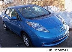 electric car zero emission nissan leaf