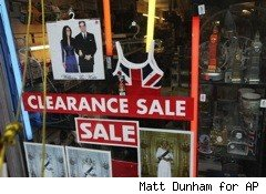 storefront with clearance items for royal wedding