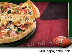 Papa John's Pizza Super Bowl  promotion