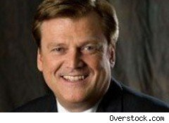 Patrick Byrne, CEO of Overstock.com, speaks up about the company's international expansion plans, state sales taxes and dirty finance.