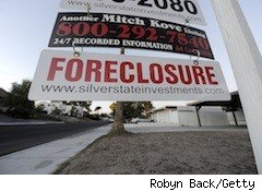 foreclosure sign - home loan modification