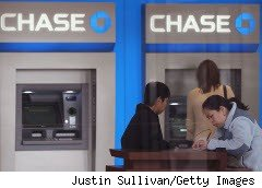 Chase Bank ATM in Illinois, which charges non-Chase customers a $5 ATM fee