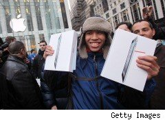 How much is the first spot in line to buy an iPad 2 worth?