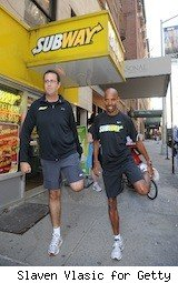 Subway CEO Jared and runner - subway