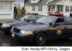 New York State Police cruisers