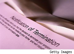 Notice of termination - pink slip