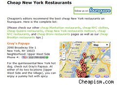 Cheap restaurants are listed at Cheapism.com