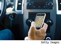 Phone apps used while driving