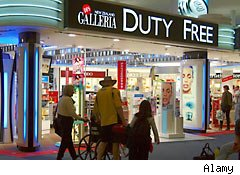 Duty free shop at the airport
