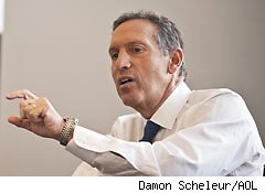Starbucks CEO Howard Schultz takes on U.S. jobs woes with loans, bracelets