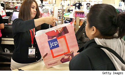 J. C. Penney new shops shine, rest of store sales tough