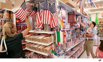 Fourth of July shopping