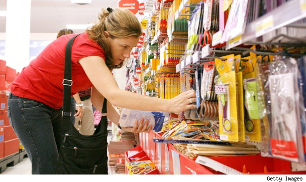 Bargain Mom shops for Back to School supplies