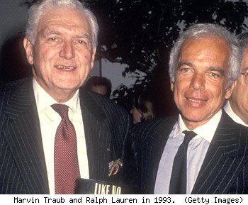 Marvin Traub and Ralph Lauren in 1993.  (Getty Images)