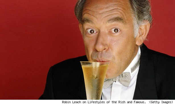 Robin Leach on Lifestyles of the Rich and Famous.  (Getty Images)