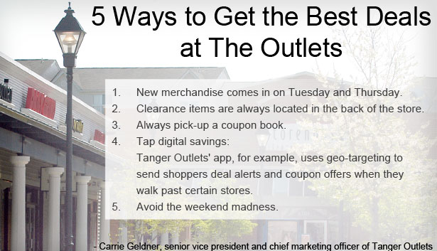 Best Deals at the Outlets