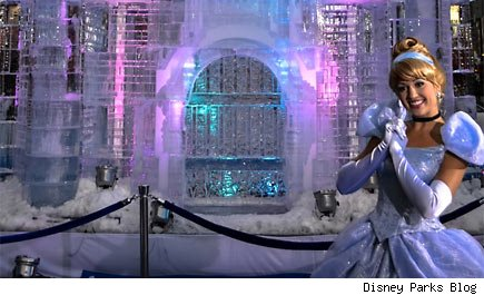 Ice castle in Times Square