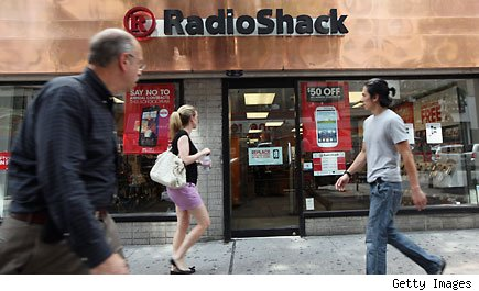 downgrade Radio shack store