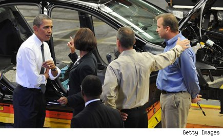 President Barack Obama at General Motors Plant