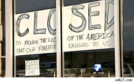 election depression closes store