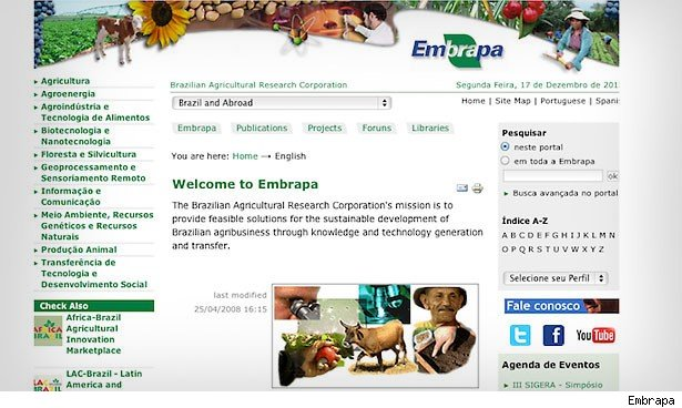 Brazil's agricultural growth has been led by the Embrapa, or Brazilian Agricultural Research Corporation.