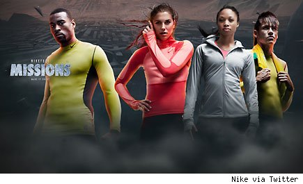 Nike fuel missions