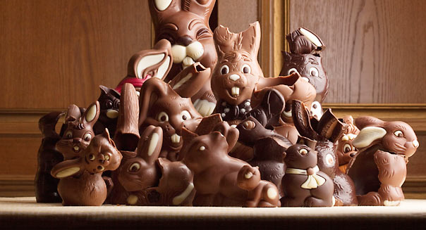 Chocolate bunnies (Alamy)