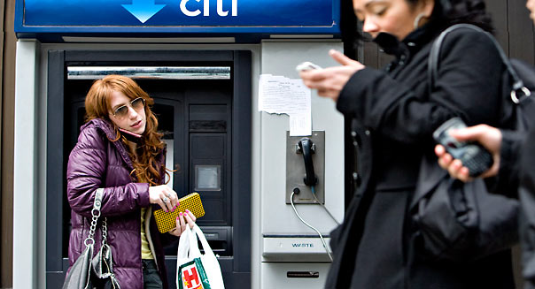 outside a Citigroup Inc. Citibank branch in New York, U.S.,  Photographer: Daniel Acker/Bloomberg