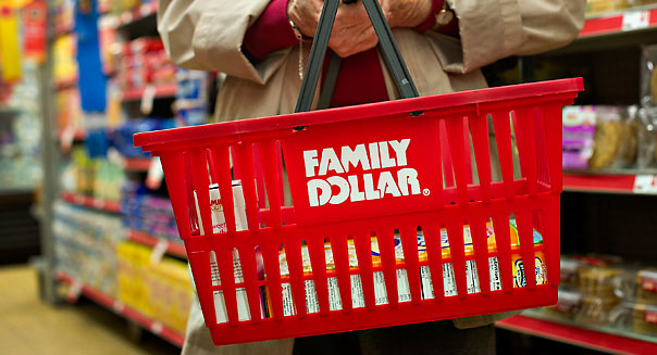 Customer Helen Buckley shops at a Family Dollar store in Sterling, Illinois, U.S., on Tuesday, March 27, 2012. Photographer: Daniel Acker/Bloomberg *** Local Caption *** Helen Buckley