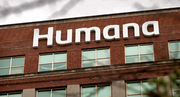 The Humana Inc. headquarters office stands in Louisville, Kentucky, U.S., on Friday, July 13, 2012. Humana Inc., a managed health care company, offers coordinated health care through health maintenance organizations, preferred provider organizations, point-of-service plans, and administrative services products. Photographer: Ty Wright/Bloomberg via Getty Images