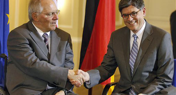 jack lew treasury secretary berlin germany wolfgang schaeuble
