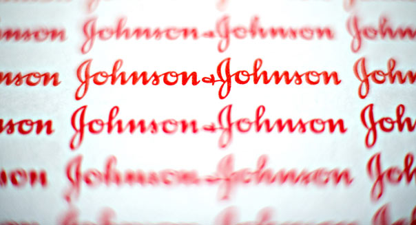 The logo of Johnson & Johnson is arranged for a photograph in Tiskilwa, Illinois, U.S., on Monday, April 11, 2011. Photographer: Daniel Acker/Bloomberg