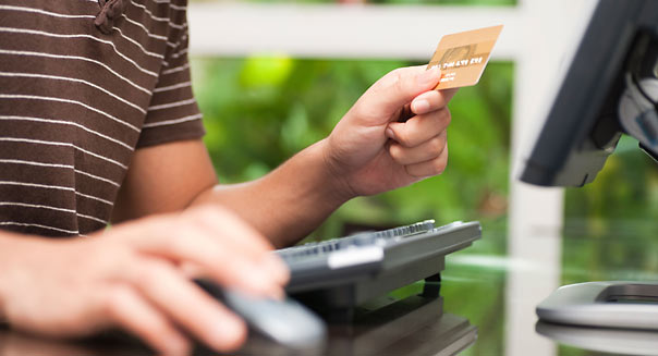 Spring cleaning credit card balance - Alamy