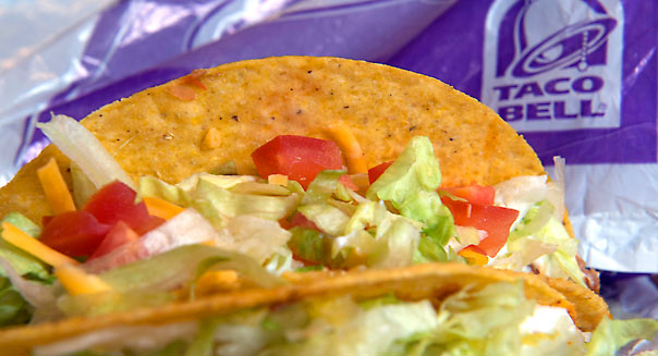 Crispy beef tacos from Taco Bell Corp. are arranged for a photograph in San Francisco, California, U.S., on Wednesday, March 13, 2013. Photographer: David Paul Morris/Bloomberg