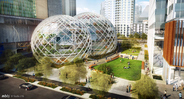 amazon.com downtown seattle headquarters rendering