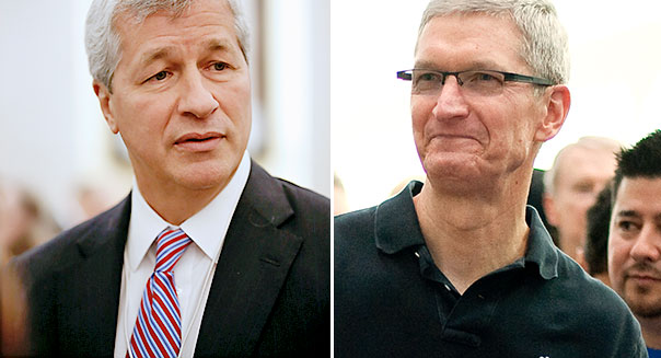 Tim Cook and Jamie Dimon