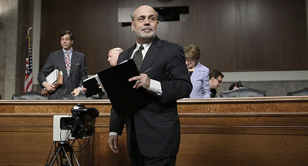 WASHINGTON, DC - MAY 22: Federal Reserve Board Chairman Ben Bernanke leaves after he testified at a hearing before the Joint Economic Committee May 22, 2013 on Capitol Hill in Washington, DC. Bernanke was on the Hill to give his views of the current economic outlook. (Photo by Alex Wong/Getty Images)